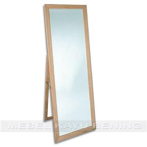 Cermin Jati cermin pigura kaca kayu jati minimalis basic