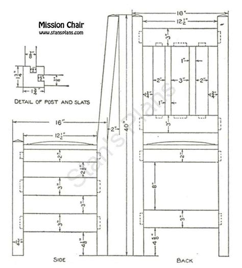Dining Room Chair Plans Free Printable Plans For A Mission Chair
