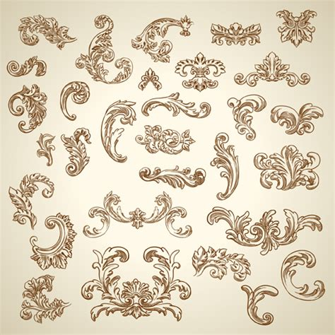 vintage ornaments vintage ornaments with corners vector vector floral vector ornament free download