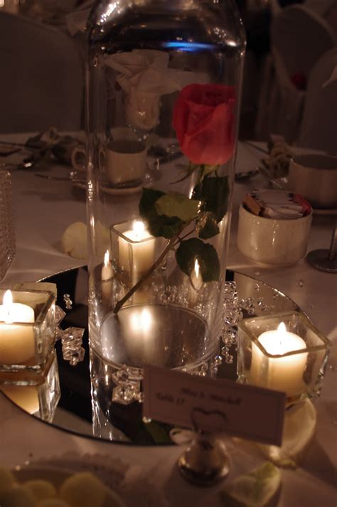 centerpieces less is more white dresses amp bowties