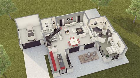 Garage Plans by Maison Contemporaine Loft 2 Maison Laure Constructeur