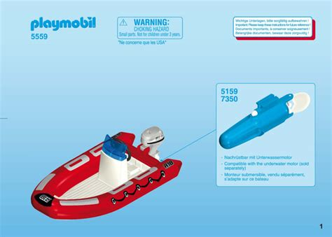 lego explorer boat instructions building instruction playmobil 5559 inflatable boat