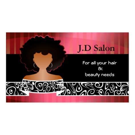 hair salon businesscards double sided standard business