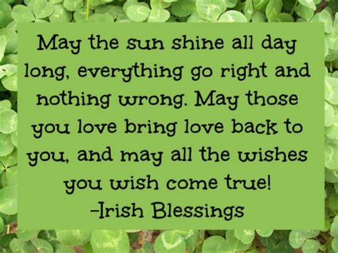 irish blessings and quotes quotesgram