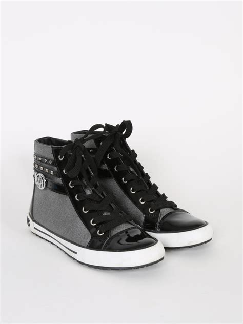 www silver sneakers armani black and silver sneakers high top 38