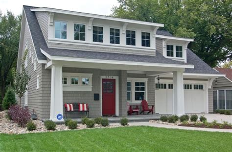 Cape Houses With Dormers Door Against Grey Cape Cod Home With Inviting Front