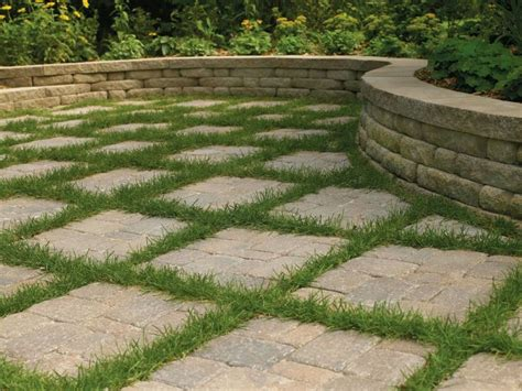 Backyard Ground Cover Ideas Maybe With Astroturf Looks Difficult To Mow Paver Patio With Ground Cover Yard Ideas