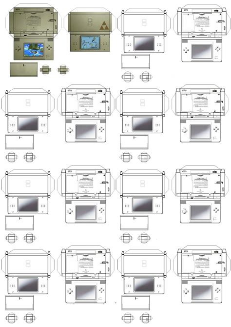 Ds Papercraft - nintendo ds paper crafts