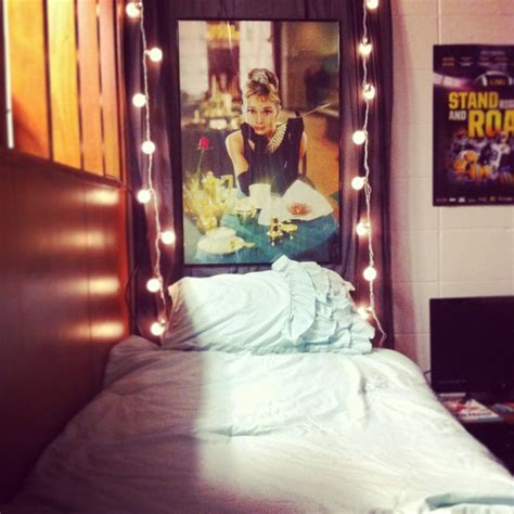 dorm headboards dorm diy curtain headboard with 2 string lights and a