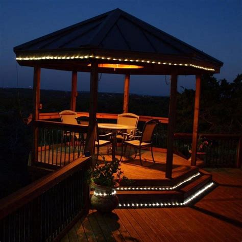 Solar Outdoor Rope Lights 16ft Solar Led Rope Light 55 Bright White Lights Outdoor Garden Path Ebay