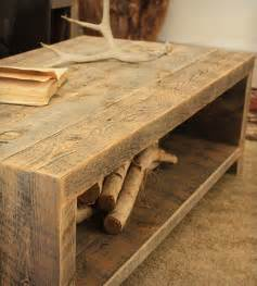 Tables Made From Reclaimed Wood 1000 Ideas About Reclaimed Coffee Tables On