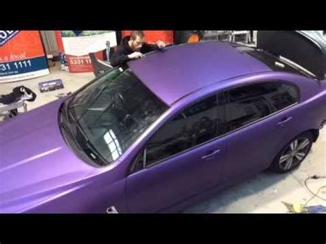 Kereta Frozen vinyl car wrap matt metallic purple