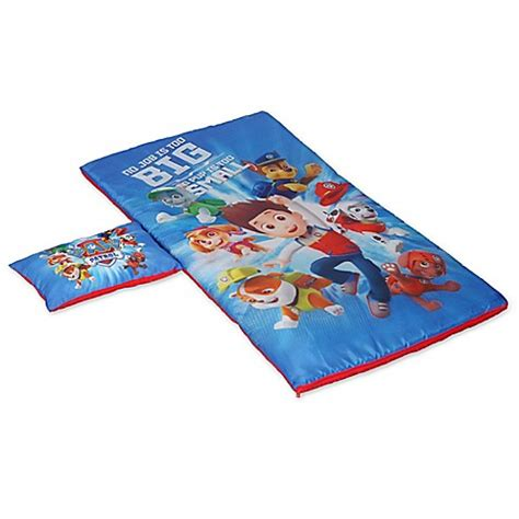 bed bath and beyond sleeping bags nickelodeon paw patrol 2 piece slumber set bed bath
