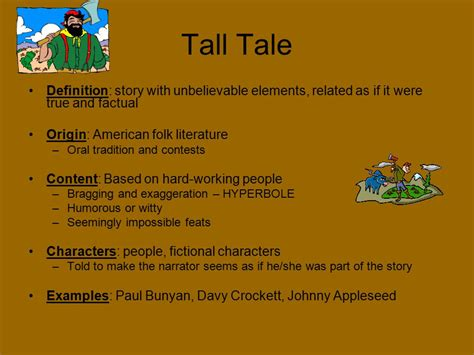 An American Folktale Of Exaggerations Fables Tales Tales Myths And Legends Ppt