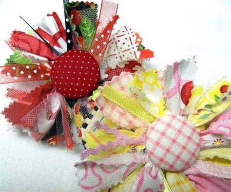 Handmade Fabric Flower Patterns - raggy fabric flower tutorial pdf make handmade fabric
