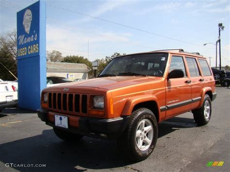 jeep cherokee fire 2001 amber fire pearl jeep cherokee sport 61761502 photo