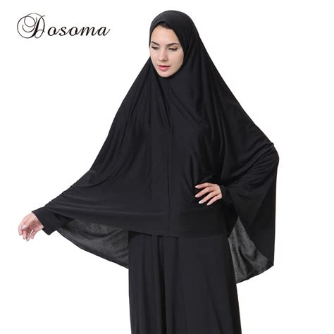 Khimar Arab muslim black cover abaya islamic khimar clothes headscarf robe kimono instant