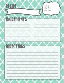 free printable recipe page template melanie gets married recipe binder printables
