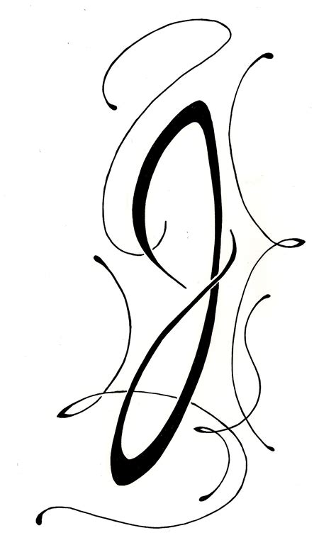 the letter j tattoo designs lettering script quot j quot nouveau original design