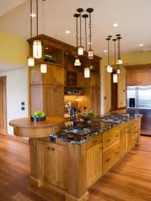 kitchen lighting excellent updated mission style love the raised bar at the end cool