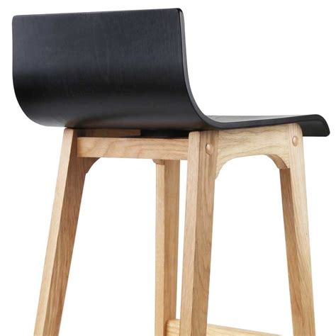 Black Wooden Bar Stool Set Of 2 Oak Wood Bar Stools Black Afterpay Zippay Zipmoney