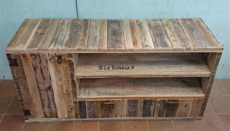 Meubles En Bois De Palettes by Meuble Bas Bois De Palettes Sur Mesure Tables De