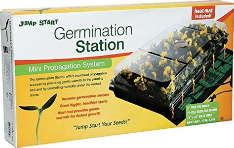 hydrofarm ck64050 germination station with heat mat in the