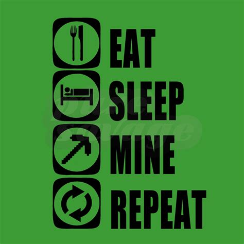Eat Sleep And Repeat minecraft t shirts and hoodies