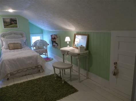 Low Ceiling Attic Bedroom Ideas by The Fanciful Farmhouse The Attic Room