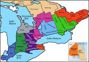 map of ontario canada counties chapter map gerontological nursing association ontario