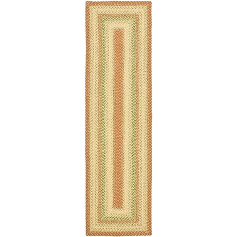rug runners 2 x 5 safavieh braided rust multi 2 ft 6 in x 5 ft runner brd303a 35 the home depot