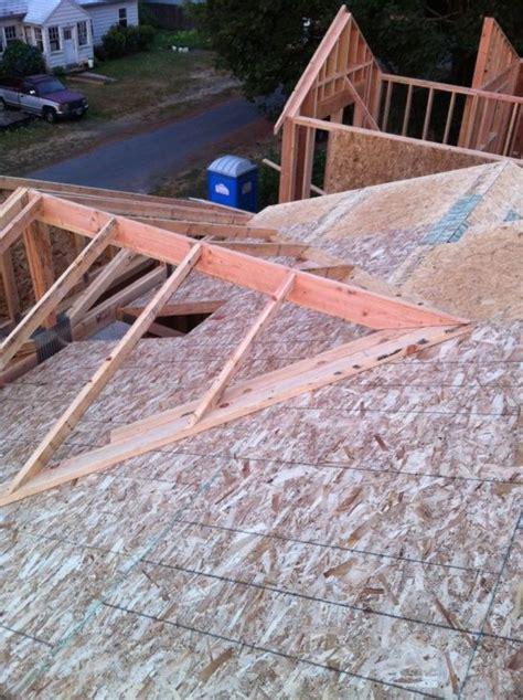 Gable Porch Roof Construction Gable Porch Plans Framing A Cross Gable