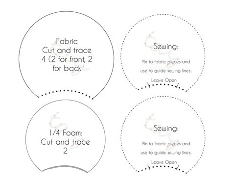 Printable Pattern Template For Diy Mickey Ears Or By Taysgizmos Mickey Ear Template