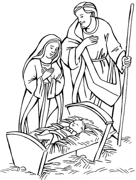 coloring pictures mary joseph mary and joseph and baby jesus bible coloring pages