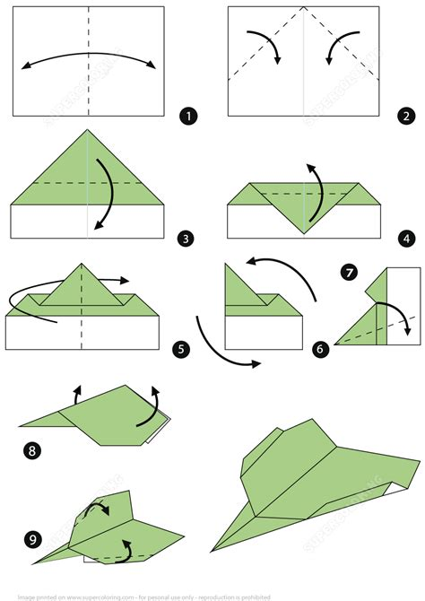 Folding Paper Airplanes Step By Step - how to make an origami paper plane step by step