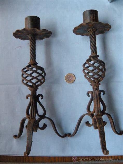 candelabros en hierro forjado pareja de candeleros candelabros en hierro forj comprar
