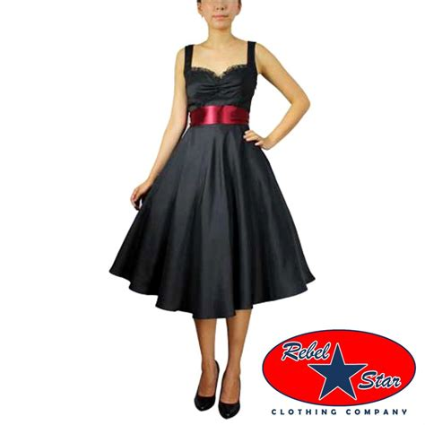 formal swing dress retro 50s satin swing dress rockabilly tattoo pin up