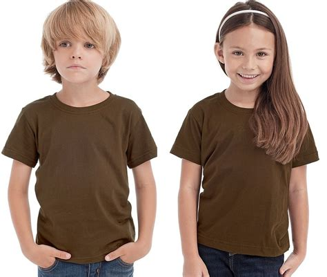 children s shirts hanes plain brown childrens boys childs cotton