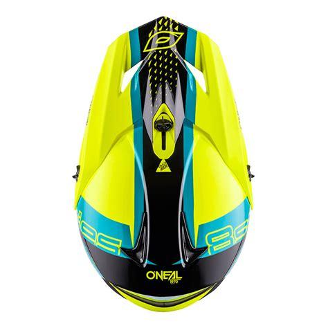 o neal 8 series nano helm gelb blau motostorm