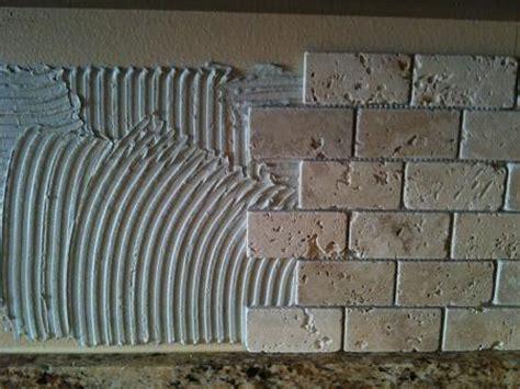 chiaro tile backsplash ceramictec 2x4 tumbled chiaro travertine backsplash