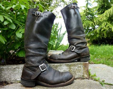 engineer style motorcycle vintage engineer boots chippewa made in usa tall