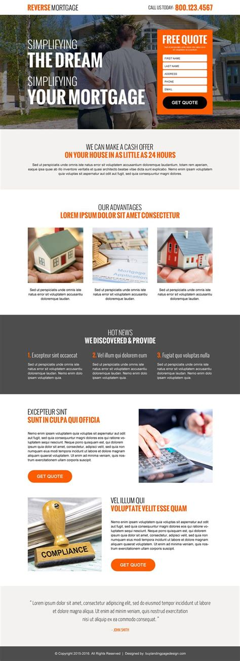 mortgage landing page templates 17 best images about mortgage landing page design on