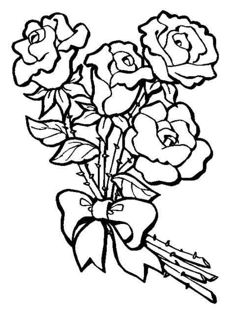 coloring pages for roses rose coloring pages