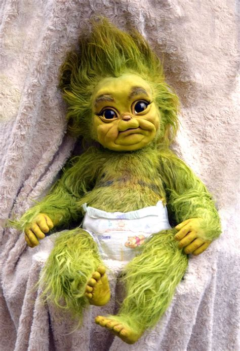baby christmas stealer baby grinch creepy dolls christmas baby
