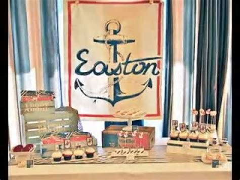 Nautical Theme For Baby Shower - easy diy nautical baby shower decorating ideas youtube