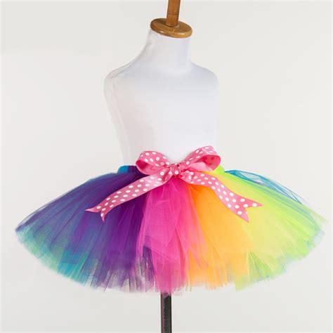Handmade Tutus - new fluffy handmade rainbow tutu skirt skirts