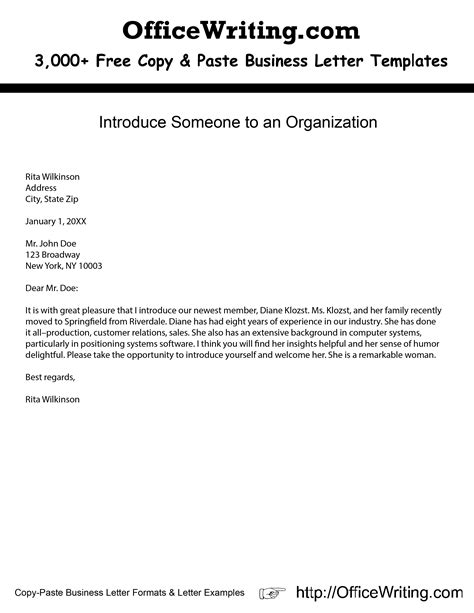 cover letter praise company introduce someone to an organization free