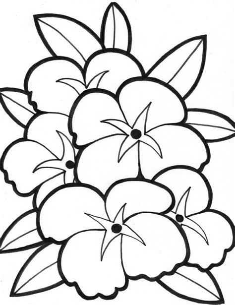 simple flower coloring pages coloring home