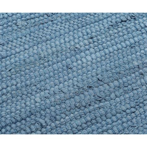 cotton rug cotton rug eternity blue rug solid