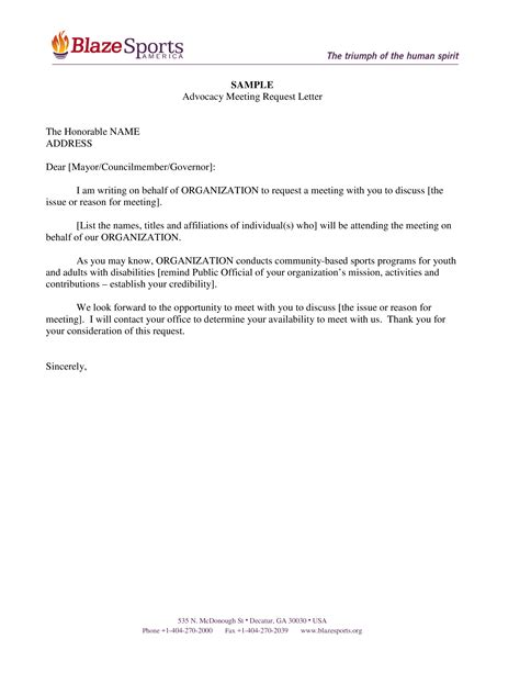 request meeting appointment letter templates